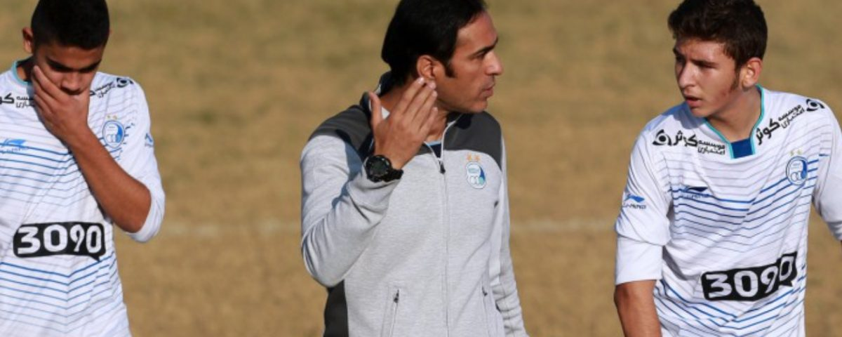 نويد فريدى مربى پايه هاى استقلال تهران .Navid Faridi coaching in matchEsteghlal.F.CU15